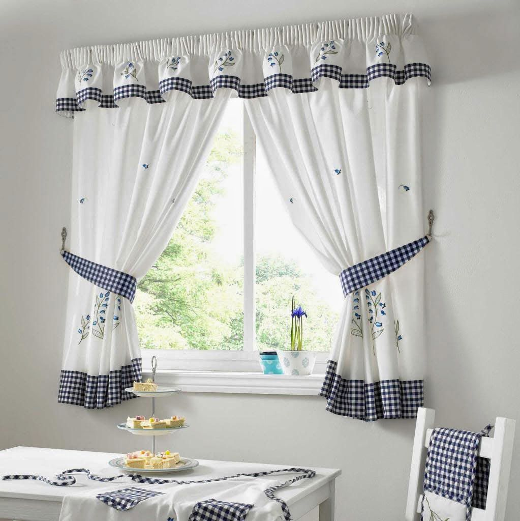 Kitchen Curtains Blue Gingham. Kitchen Curtains Blue Green