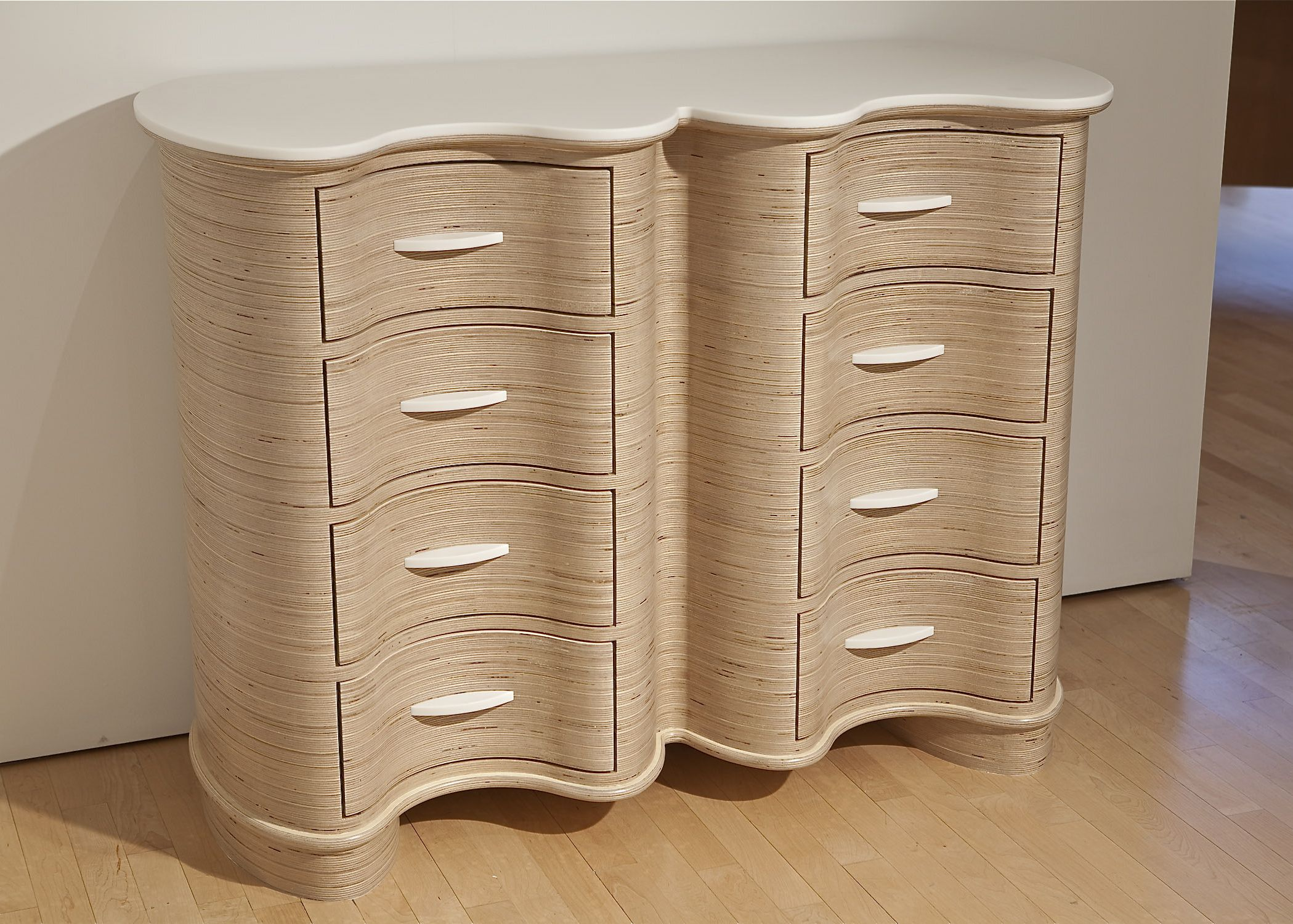 This chest of drawers display is fabricated from Baltic Birch ...