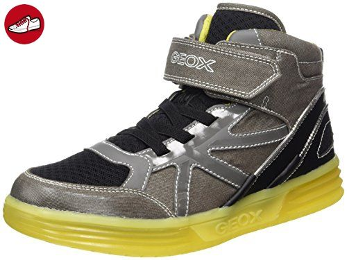 Geox Jungen J Argonat Boy B Hohe Sneaker, Blau (Navy/Grey), 38 EU
