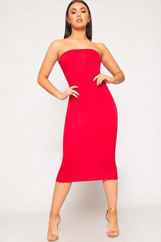 Zaira Bandeau Bodycon Midi Dress Wearall Dresses Midi Dress Bodycon Strapless Dress Formal [ 1500 x 1000 Pixel ]