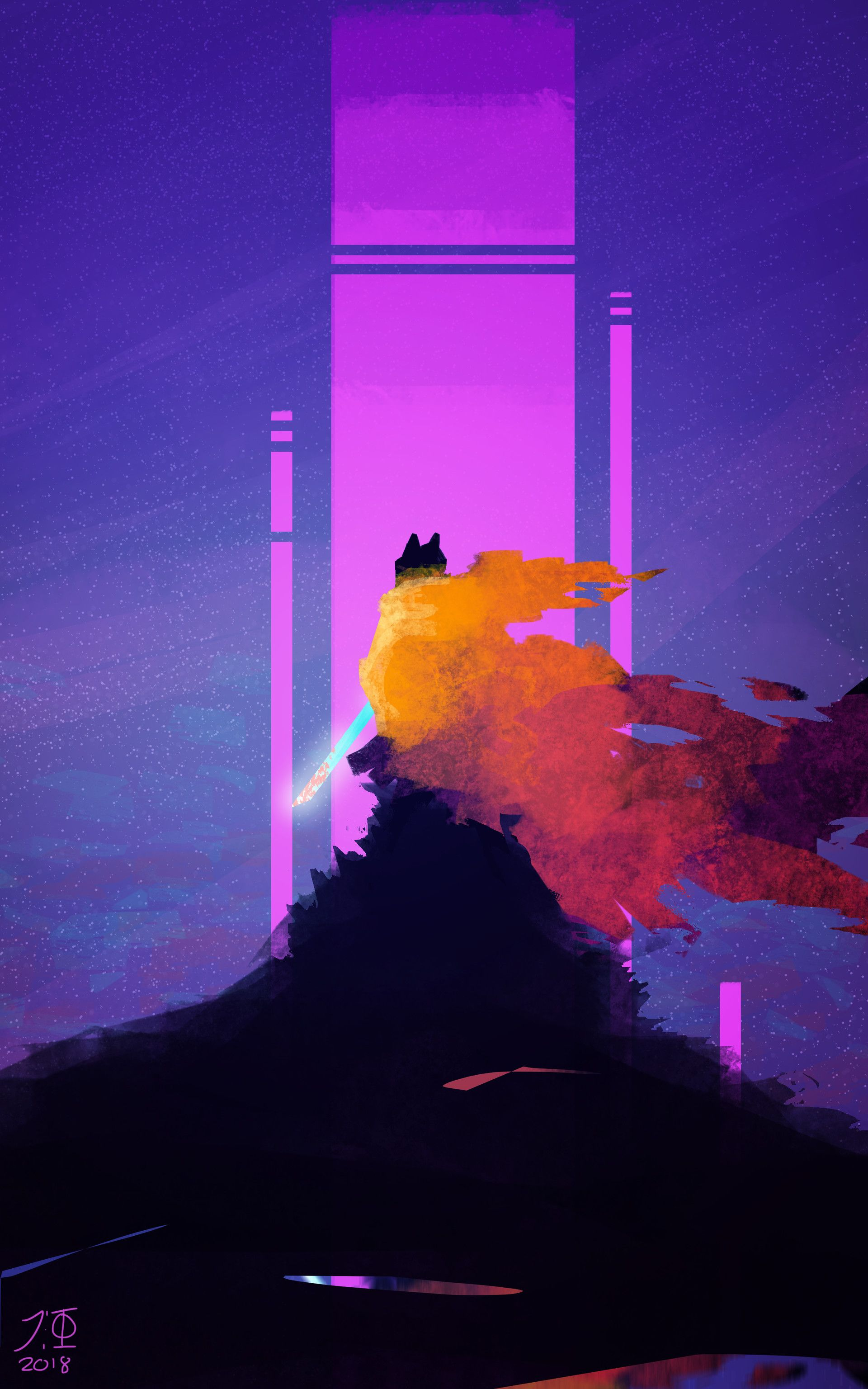 Artstation Hyper Light Drifter John Farrington Hyper Light Drifter Wallpaper Drifter Dark Fantasy Art