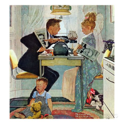 """""""Dewey v. Truman"""", October 30,1948 Giclee Print by Norman Rockwell at AllPosters.com"""