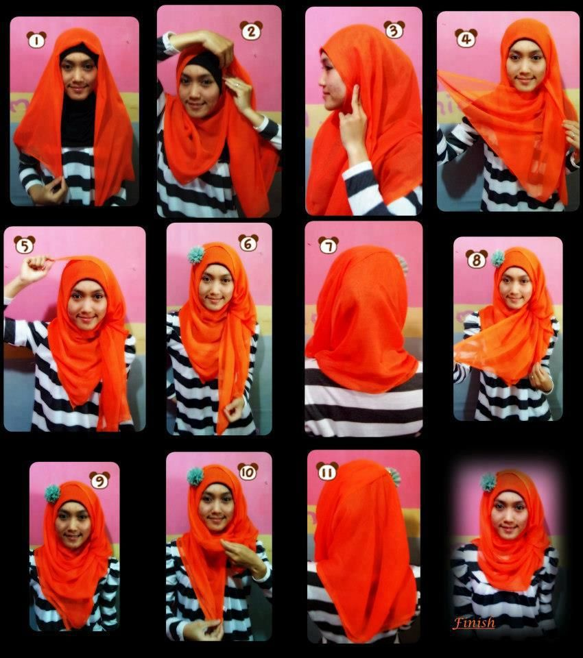 Tutorial Hijab Segi Empat Ala Dian Pelangi Tutorial Hijab