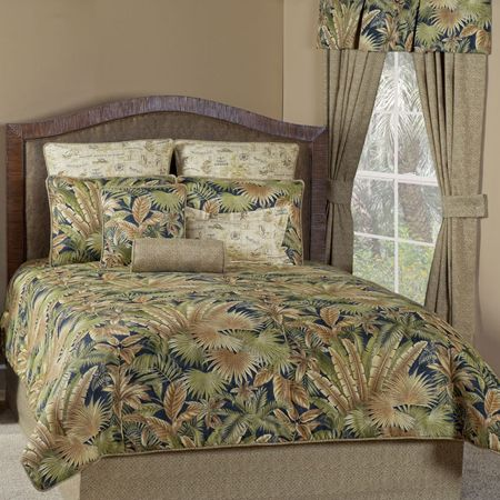 Bahamian nights tropical bedding comforter set accessories green bahamian nights tropical bedding comforter set accessories green highlights tommy bahama and palm fronds gumiabroncs Gallery