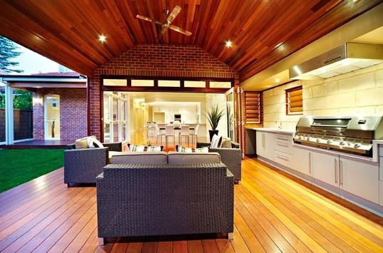 Outdoor kitchen ideas with beautiful lighting | Outdoor Kitchens ...