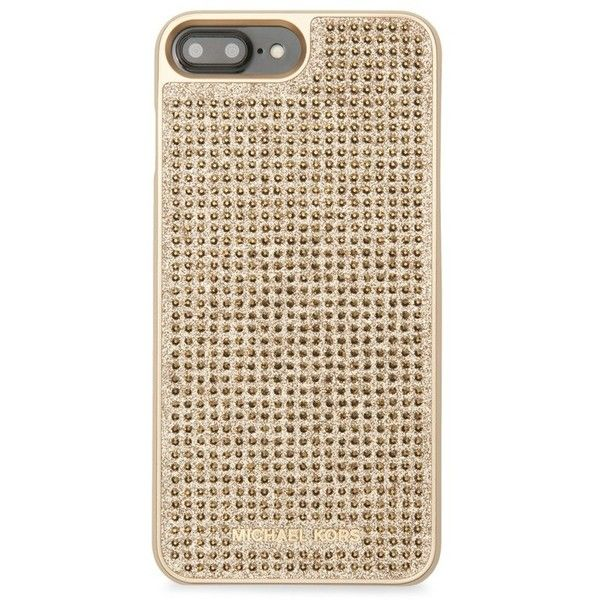 e39f44e8a98 Michael Kors Collection Pave Crystal Iphone 7 Plus Case ($65) ❤ liked on  Polyvore featuring accessories, tech accessories, gold and michael kors