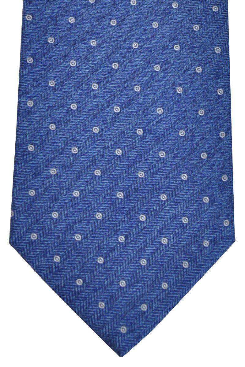 Cravate Borrelli Napoli Rayé Bleu 1cuV66