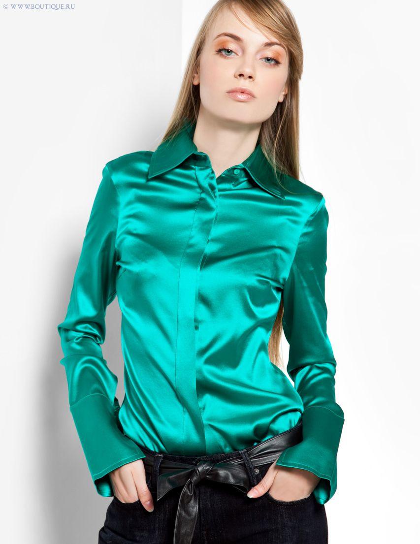 53f2a58d976 Green Satin Blouse | Satin blouses | Satin blouses, Satin dresses, Satin