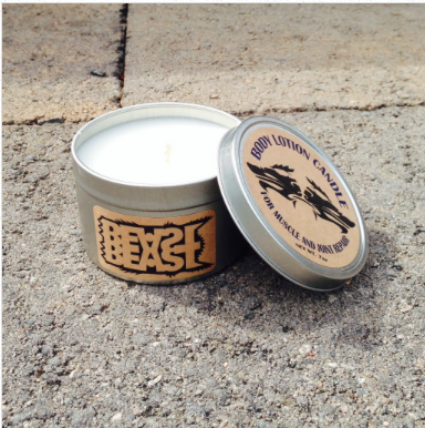 check out our muscle and joint repair candles candles