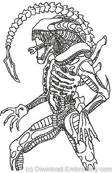 Xenomorph Coloring Pages Coloring