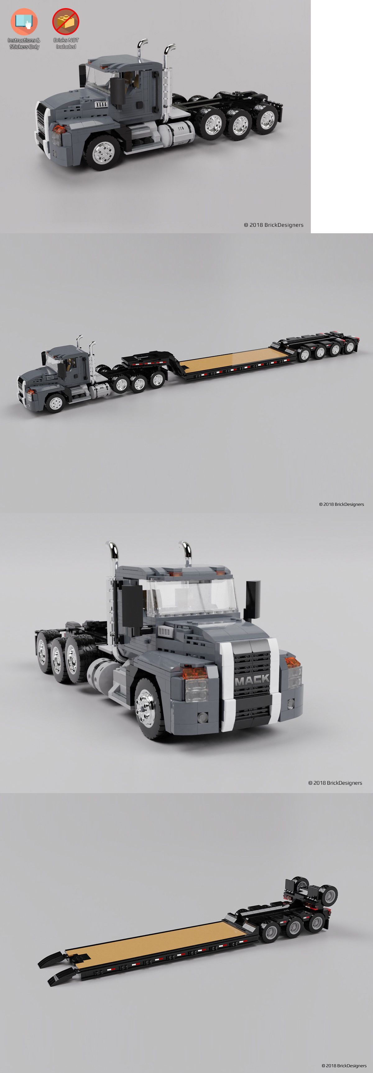 NO BRICKS Instructions /& Stickers to build a custom Lego Scania S Truck