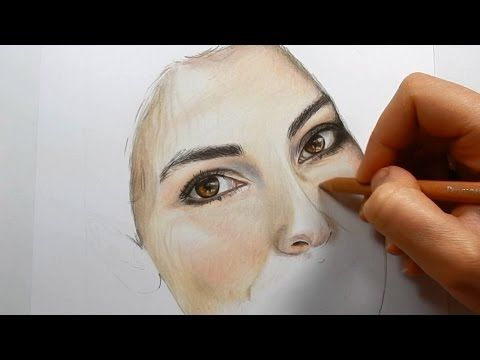Coloring skin and hair with colored pencils part 2 emmy kalia youtube