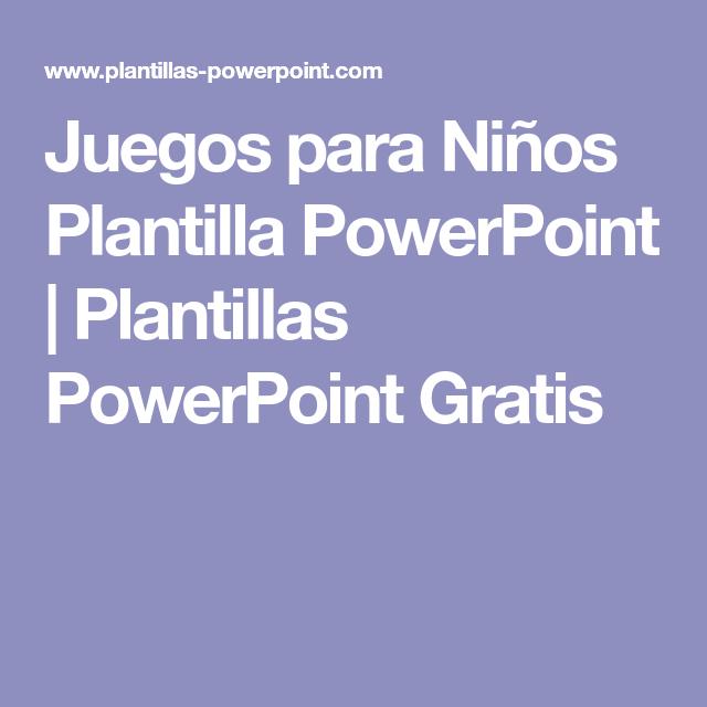 Juegos para Niños Plantilla PowerPoint | Plantillas PowerPoint ...