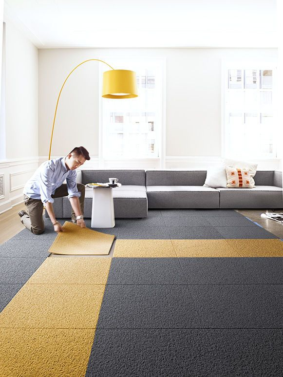 Flor S Modular Carpet Squares Allow Users To Completely Customize The Flooring In Their Home Allie Weiss Ditch Area Rug This Easy