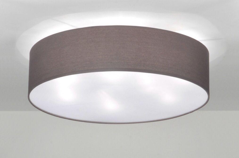 Plafondlamp grote stoffen kap Licht voor in de slaapkamer