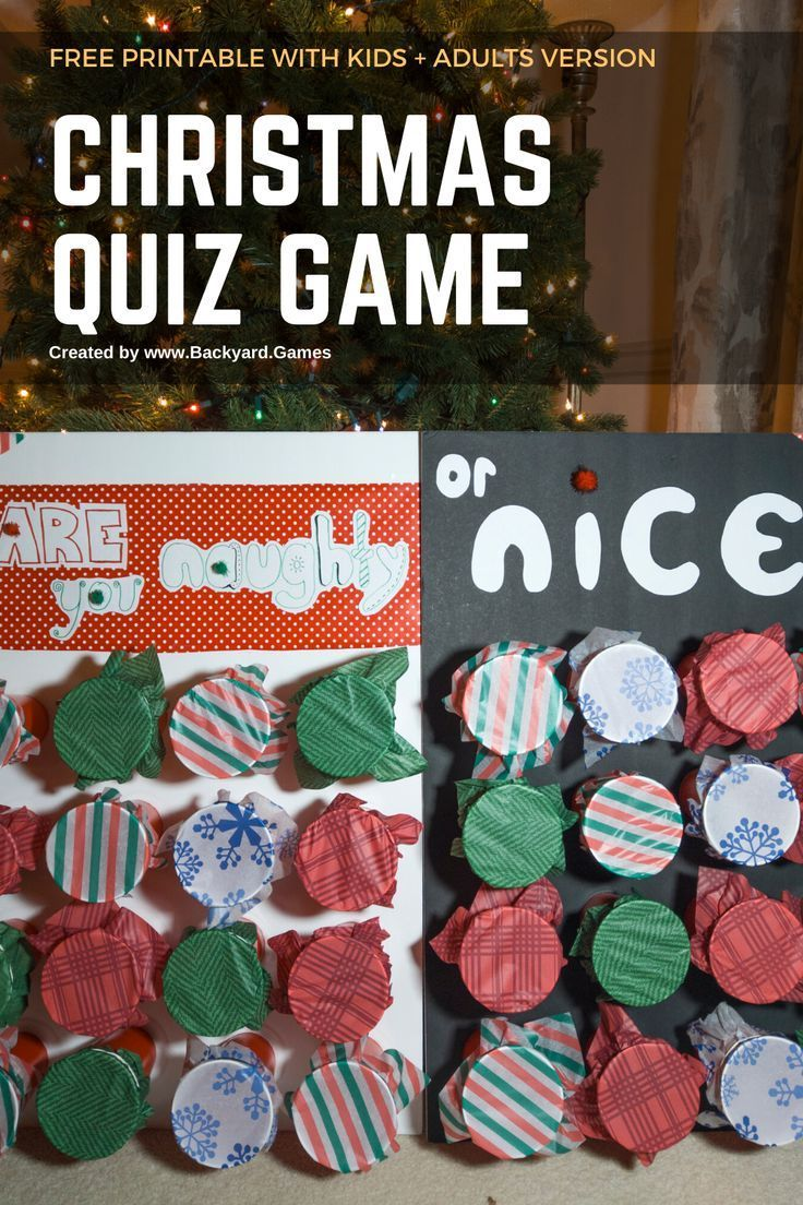Are you Naughty or Nice? Super fun Christmas Quiz Game w