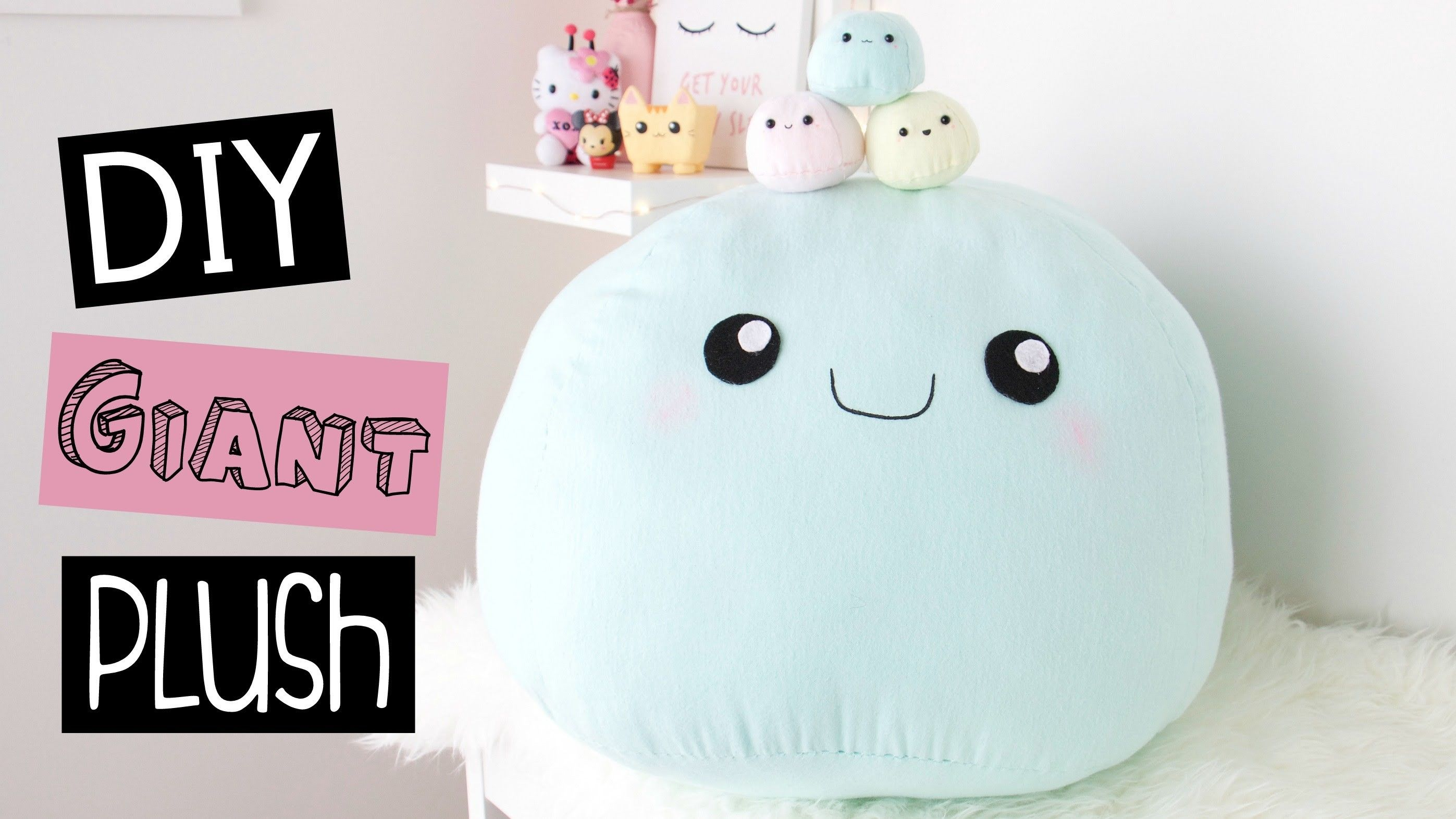 Diy Giant Plush Pillow Room Decor Giant Plush Kawaii Diy Plush Pillows [ 1572 x 2794 Pixel ]