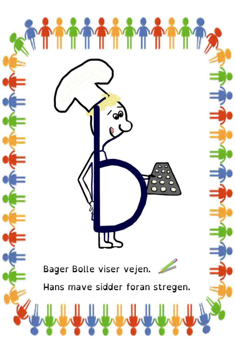 B Og D Som Plakater Bogstaver Undervisning