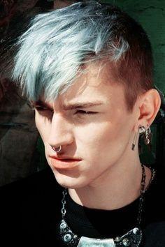 Pastel Blue Grunge Hair Men Hair Color Light Blue Hair Mens Hair Colour