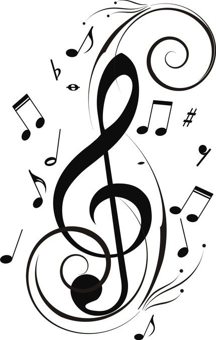 Easy To Draw Music Notes : music, notes, Gallery, Music, Notes, Designs, Bedroom,, Sticker