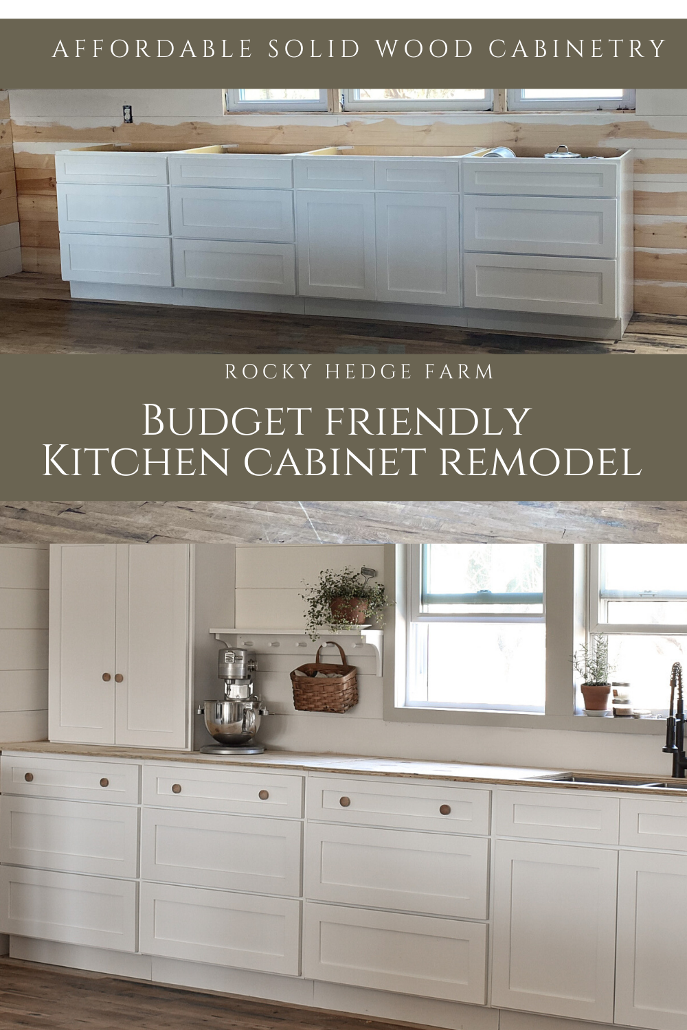 Kitchen Cabinet Remodel On A Budget Rocky Hedge Farm In 2020 Kitchen Cabinet Remodel Solid Wood Kitchen Cabinets Cabinet Remodel