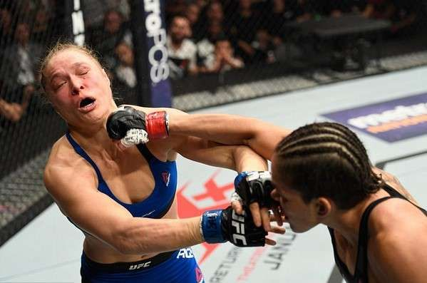Ronda Rousey and Amanda Nunes fight pictures
