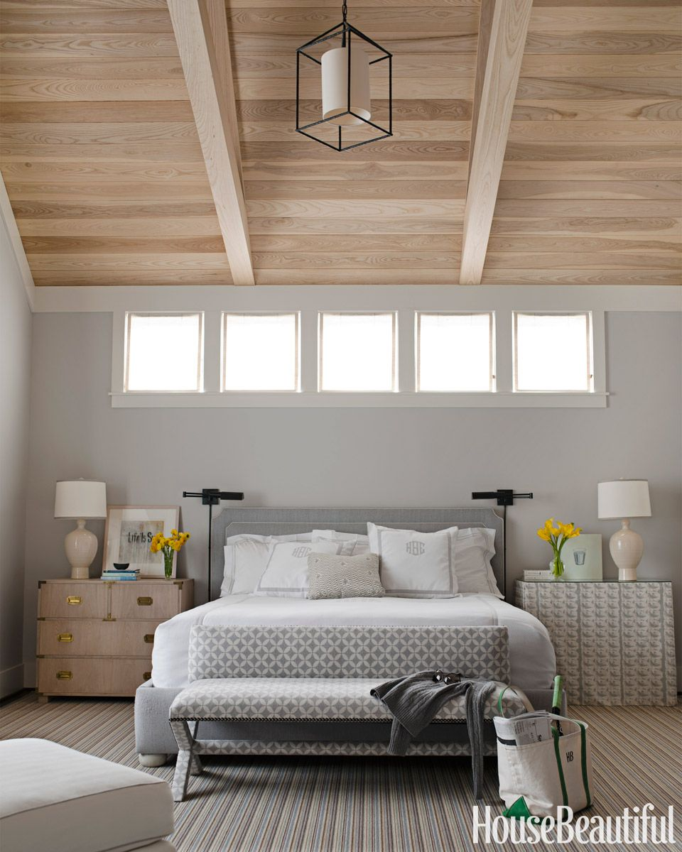 Paint colors for in bedroom traditional with exposed beams butter - Colour Review Benjamin Moore Gray Owl