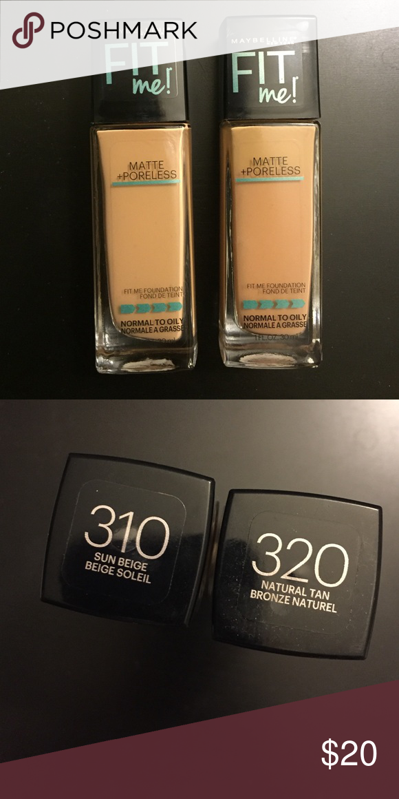 2 Maybelline Fit Me Matte Poreless Foundation Both Have Been Swatched Experimenting With Al Of Maybelline Makeup Fit Me Matte And Poreless Makeup Foundation