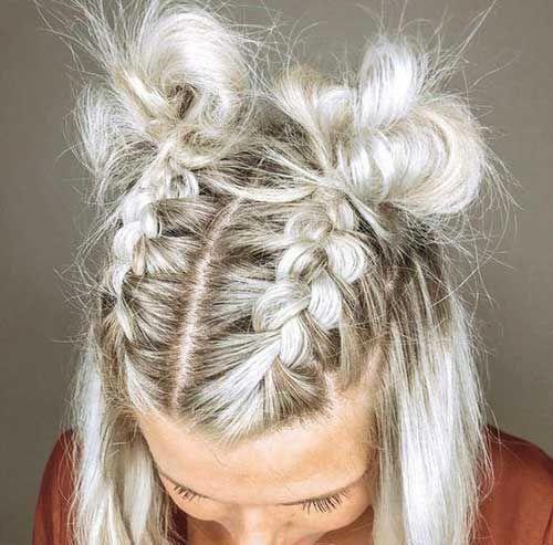 11 Easy Braided Hairstyle For Short Hair Braidedhairstyles Hairdos For Short Hair Short Hair Styles Easy Medium Hair Styles