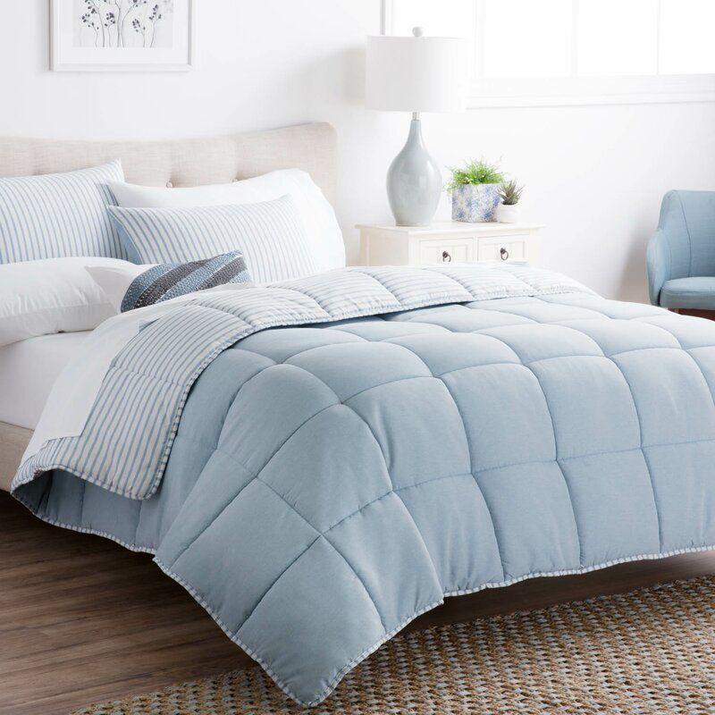 Wayfair Light Blue Reversible Down Comforter Comforter Sets Light Blue Comforter Down Comforter Oversized king down alternative comforter