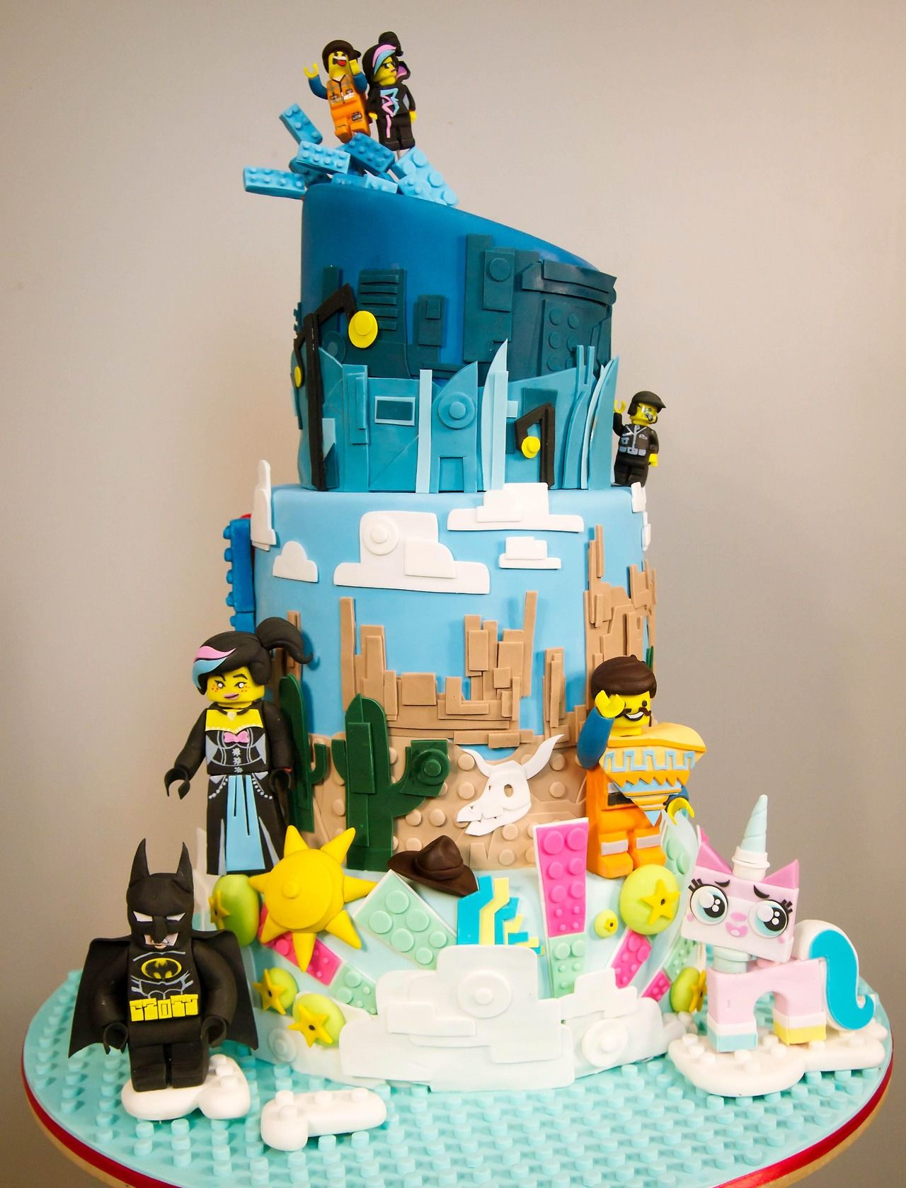 Amazing The Lego Movie Cake To End All Lego Movie Cakes With Images Birthday Cards Printable Trancafe Filternl