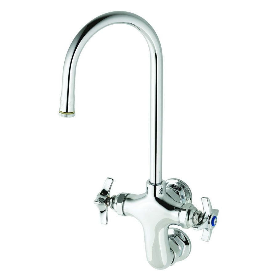 T&S B-0315 Wall Mounted Double Pantry Faucet with Vertical 3 ...