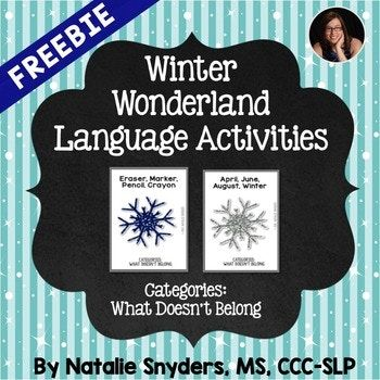 This activity (a FREE sample of my Winter Wonderland Language