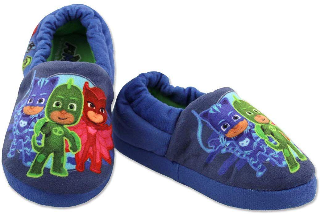 LEGO Blocks Boys Toddler Plush Aline Slippers with Non Slip Rubber Sole