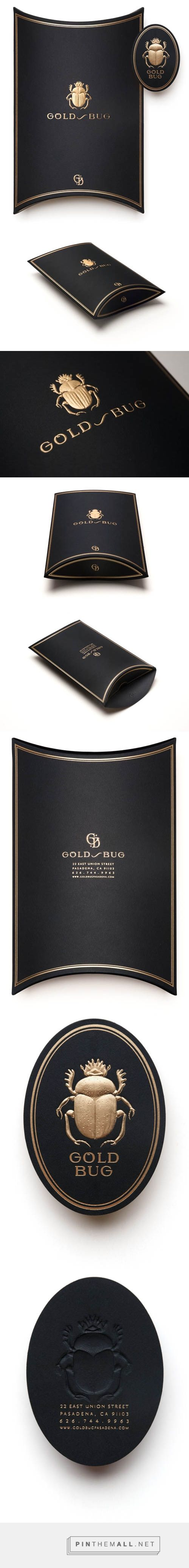 Pressure printing Gold Bug identity design. Look how gorgeous this embossed/debossed #packaging is curated by Packaging Diva PD created via http://blog.pressureprinting.com/post/68906012107/gold-bug-identity-design