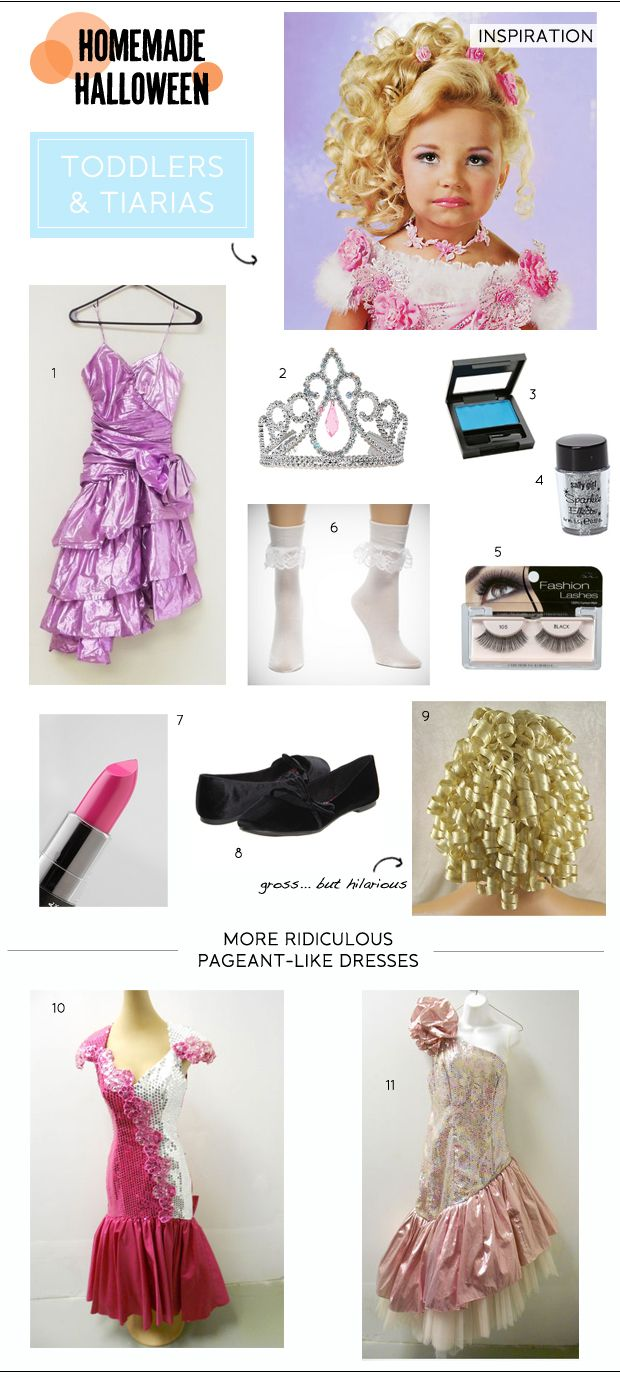 Homemade Halloween: Toddlers and Tiaras Costume | Halloween costumes ...