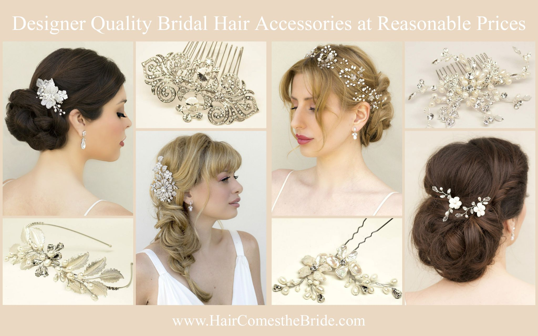 designer bridal hair accessories at reasonable prices ~ real