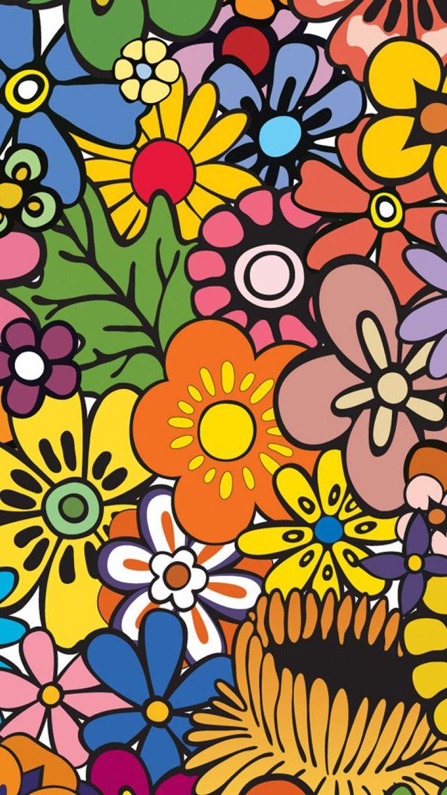 Permalink to Groovy Flower Wallpaper