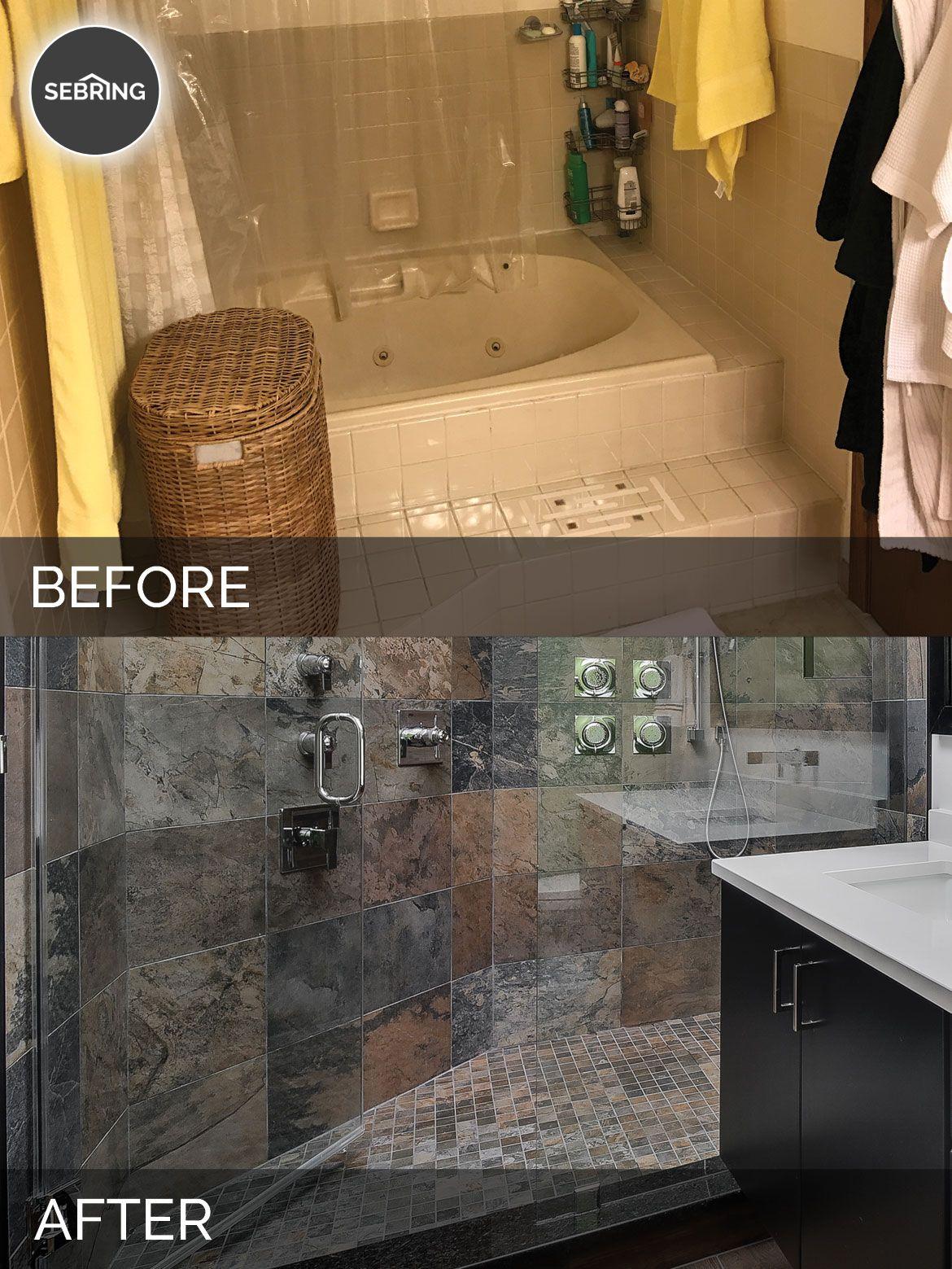 Naperville Master Bathroom Before & After  Sebring Design Build Entrancing Bathroom Remodeling Naperville Decorating Design