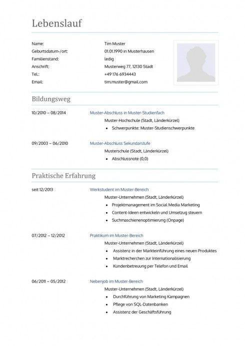 Lebenslauf Muster Vorlage 10 Lehrer 1 Lebenslauf Muster