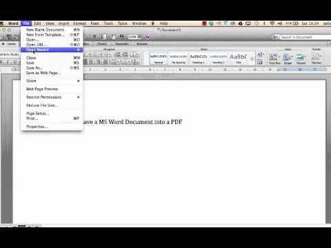 How to Convert a MS Word Document into a PDF Our videos