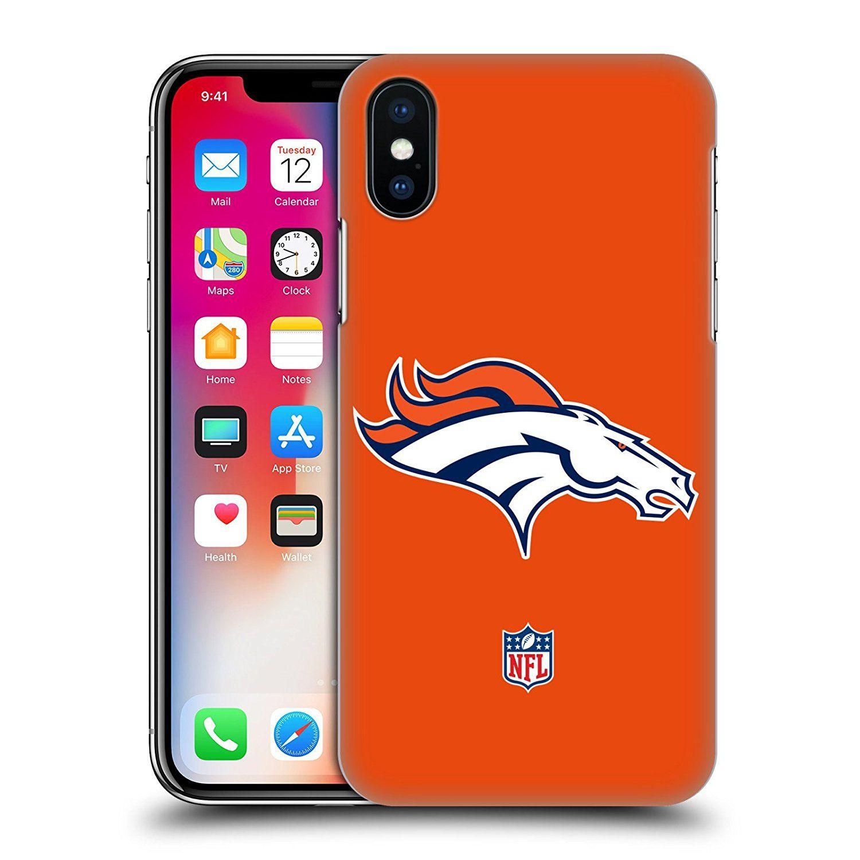 Official NFL Plain Denver Broncos Logo Hard Back Case for