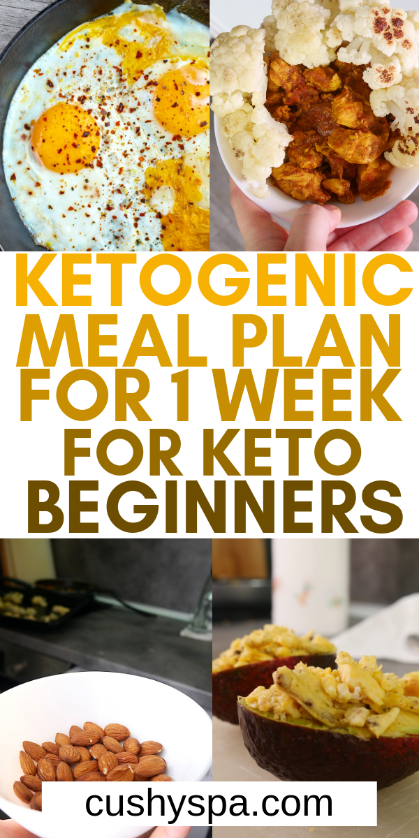 Ketogenic Meal Plan for 1 Week for Keto Beginners #ketomealplan