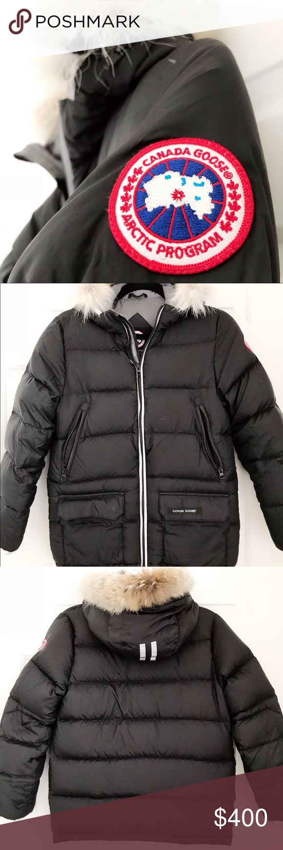 67e373a855907 Canada Goose Black Jacket AUTHENTIC Canada Goose Oliver jacket in black.  Size  Big Kids