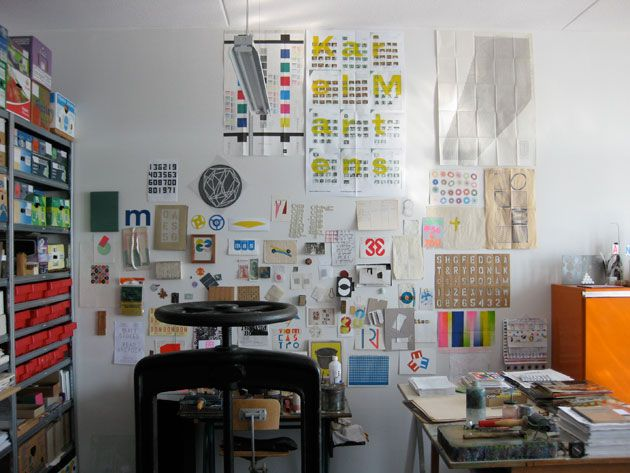 Karel Martens studio in Amsterdam. | creativity and ...