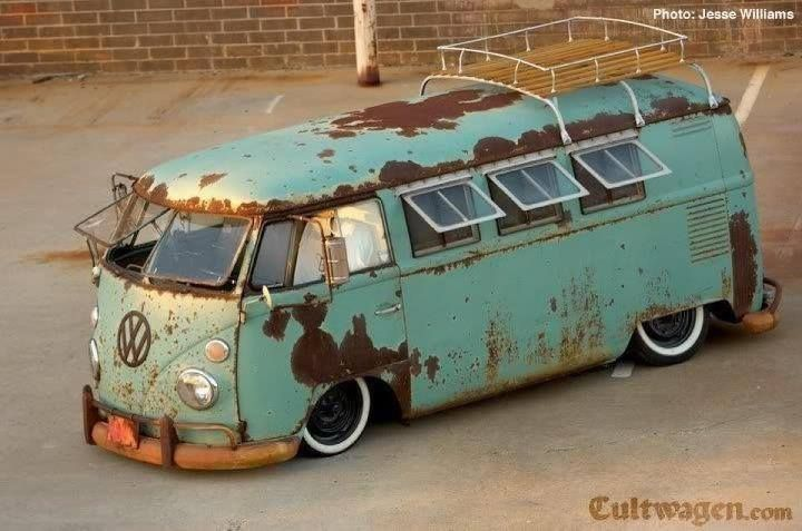 Some How Better With Rust With Images Vintage Vw Bus