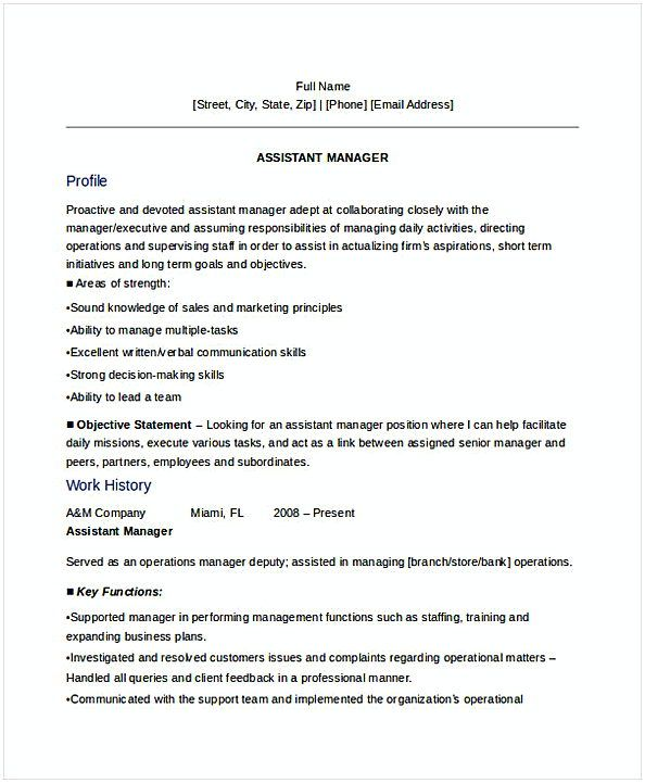 Sales Assistant Manager Resume 1 , General Manager Resume , Find the