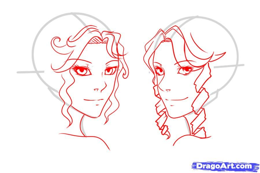 How to draw curly hair draw curls step 6