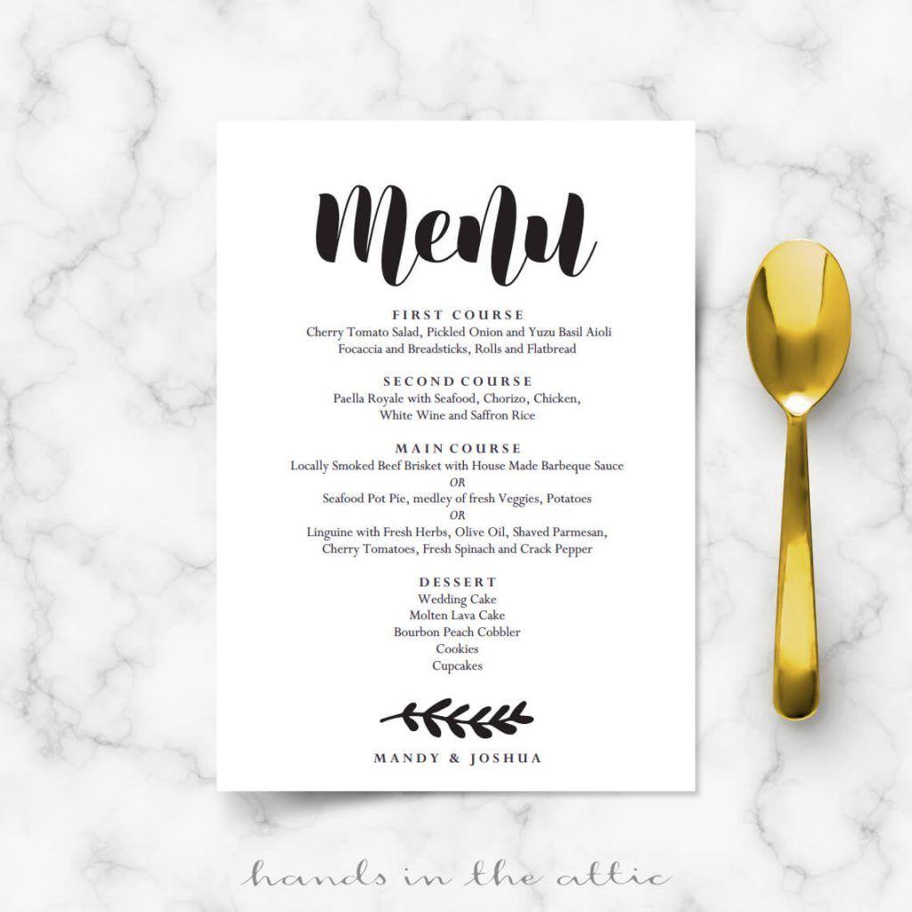 Simple Wedding Reception Food Ideas: Simple Wedding Menu, Wedding