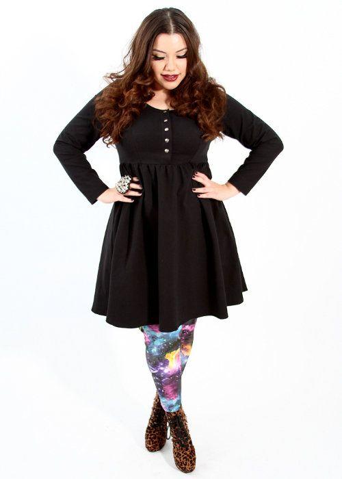 Plus size baby doll dress